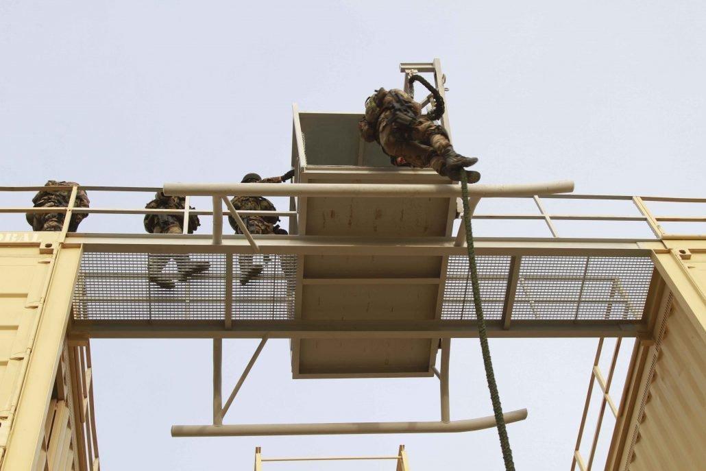Tercio Sur Infantería de Marina entrenamiento torre