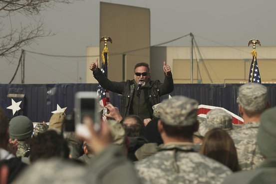 Robin Williams en Kabul en 2010 - DOD - Associated Press