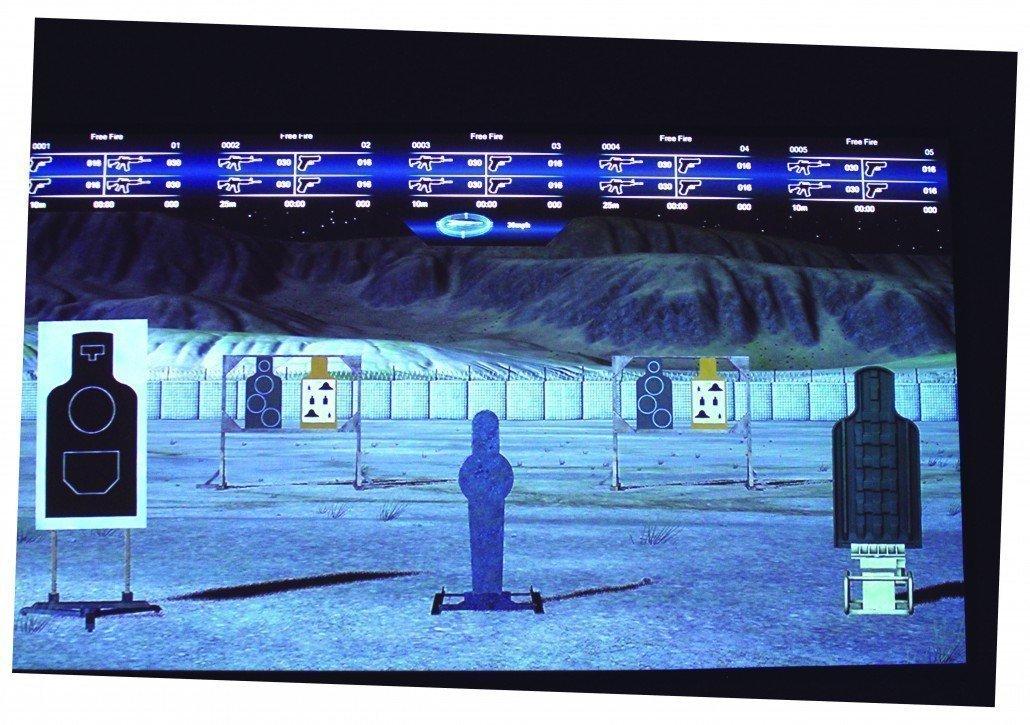 Simulador de tiro elección de blancos