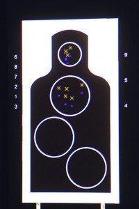 Simulador de tiro silueta