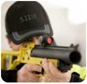 Lanzador 40mm Mossos d'Esquadra a la vanguardia